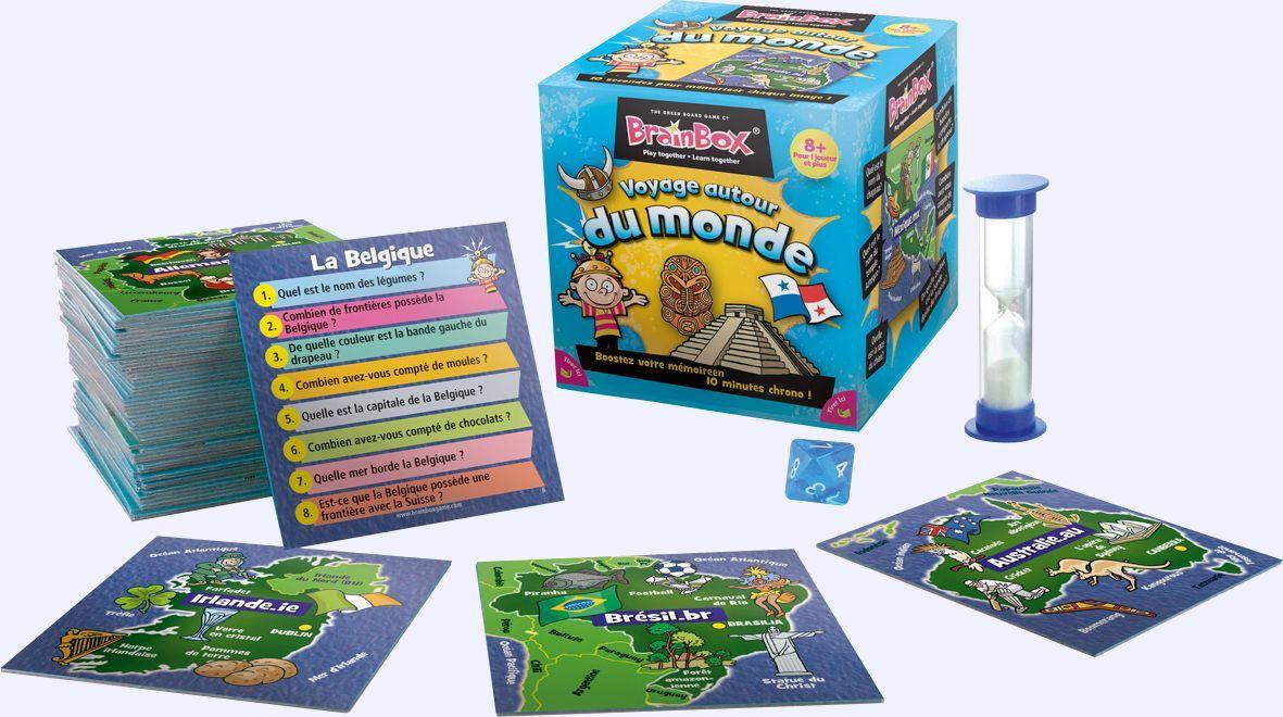 boardgame BrainBox Voyage autour du monde game A partir de 8 ans