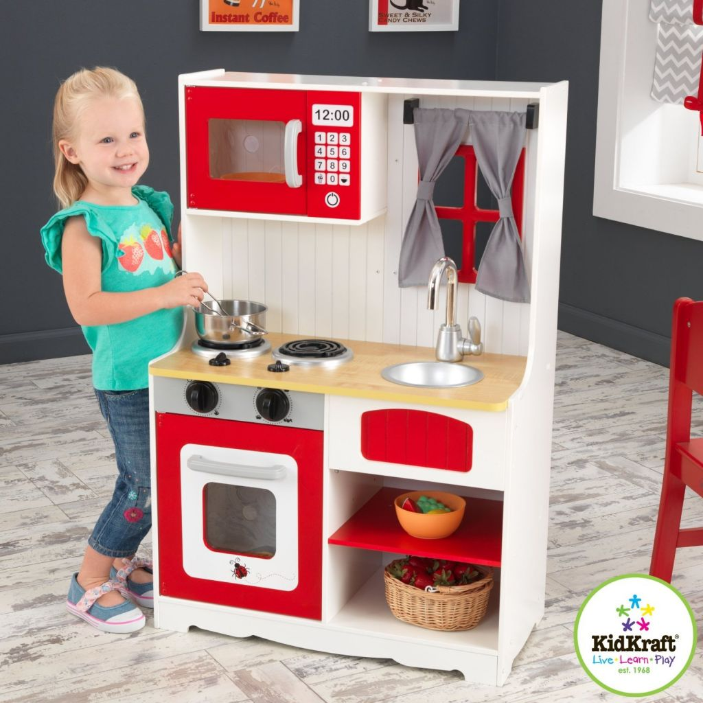 Cuisine campagnarde rouge kidcraft 53299 jeux de nim - Cuisine campagnarde rouge ...