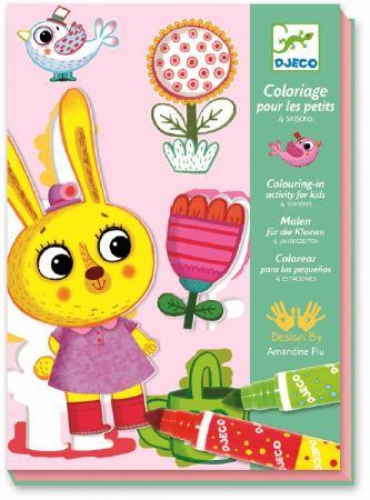 Coloriages pour les petits 4 saisons djeco dj08991 - Djeco coloriage ...