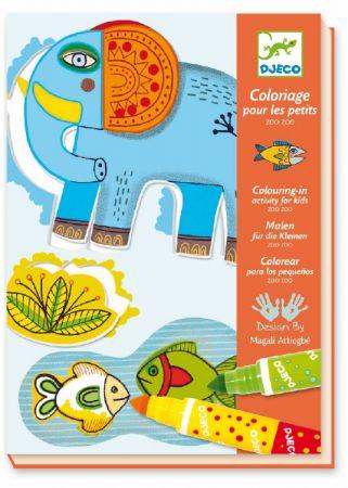 Coloriages pour les petits zoo zoo djeco dj08990 - Djeco coloriage ...
