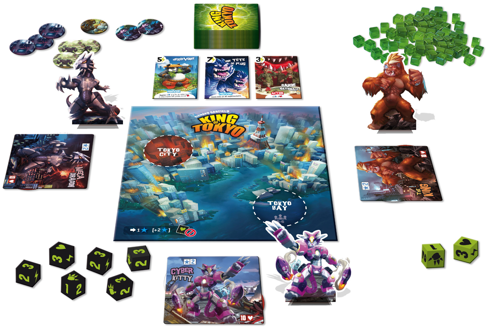 King of tokyo jeu de soci t chez jeux de nim for Activities for couples in nyc