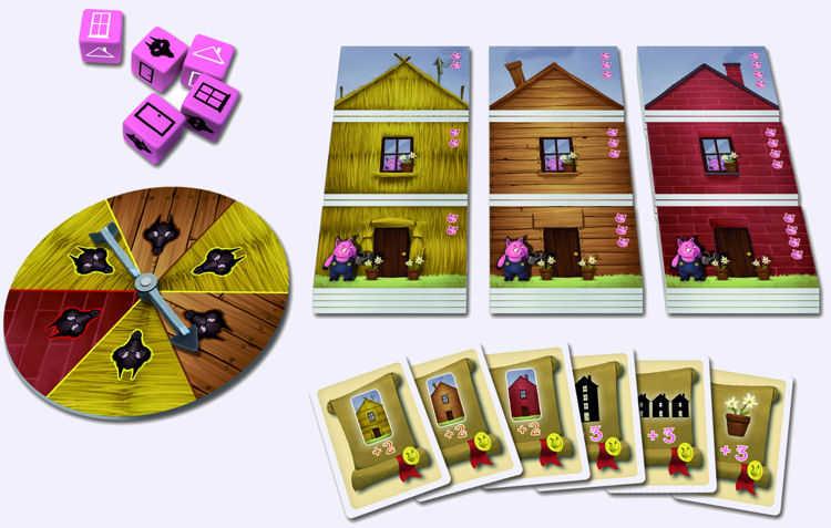 Les trois petits cochons jeu de soci t chez jeux de nim for Jeu pour gagner une maison